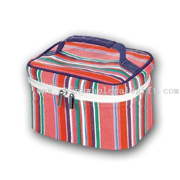 Cosmetic Bag Model No.:CWSG27570 Description: Material: striped canvas