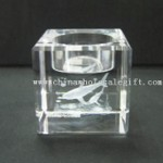 Laser-Engraved Crystal Candle Holder small picture