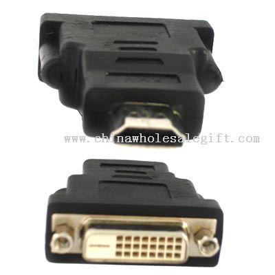 HDMI 19Pin Male to DVI 24+1 Pin Female adapter