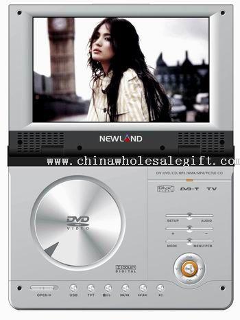 Portable DVD / DivX Player con DVB-T y Sintonizador de TV analógico