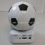 Portable Football Shape Mini Speaker small picture