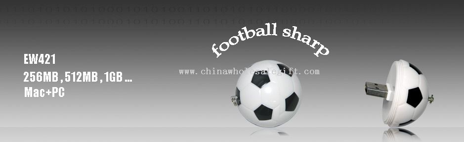 Fútbol Forma USB Flash Disk