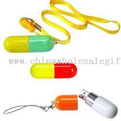Pill Forma cordón USB Flash Disk