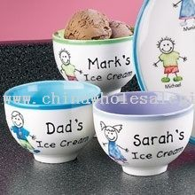 Ice Cream Bowls - Family Characters Personalized Family Ice Cream