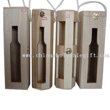 Caja de madera del vino