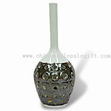 CERAMIC BLUE WHITE WATER DRAGON VASE Chinese Porcelain