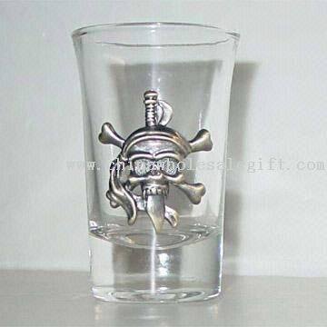 1 oz. Clear Plastic Shot Glass (Screen Printed) - Absorbent, Ink.