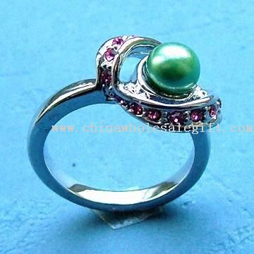 Mujeres Shining Jewelry Ring Finger