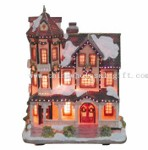 Xmas House with Optical Fiber small picture