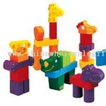 Djeco Creanimaux Wooden Animal Blocks small picture