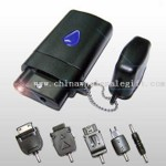 Portable Emergency Mobile Phone Battery Charger with LED Light and Five Changeable Plugs small picture