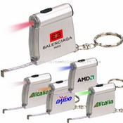 Tape Measure and Measuring Tape with Flash LED Light and Key Chain Light Approved RoHS images