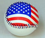 American Flag Design Promational Baseball small picture