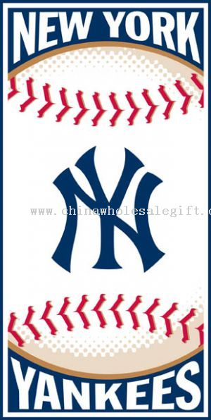 new york yankees logo pic. New York Yankees 30x60 Beach