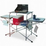 Foldable Grill Table, with Poder Coating and PC Connector small picture
