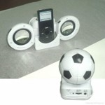 Football iPod Mini Speaker system small picture