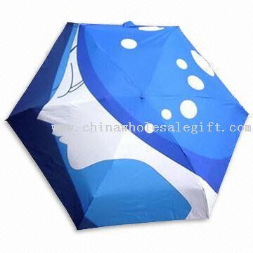 HQ 0951631 - Self-folding collapsible umbrella and case which