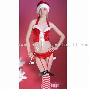 Sexy Christmas Naughty Miss Santas Lingerie Model No.:CWSG31356