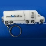 PVC Car/Truck Shaped USB Flash Drive with Embossed 3D Logo small picture