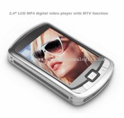 "2.4"" LCD MP4 digital video player with MTV function images"