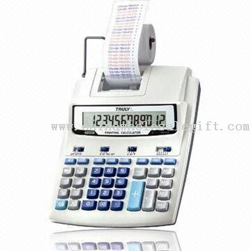 12 digits printing calculator