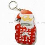 EVA Santa Claus Eight Digits Calculator with Keychain small picture