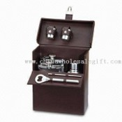Portable Bar Set in Imitation Leather Case