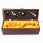 One Wine Bottle Holder with Five Bar Accessories and Stainless Steel Wine Ring small picture