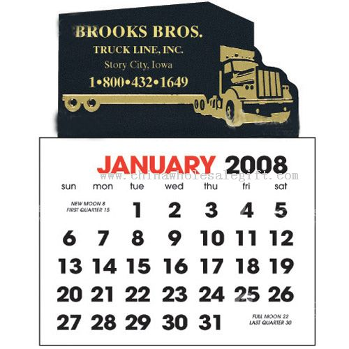 Semi Truck Shaped Stick Up Calendar