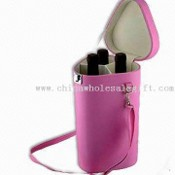 Three Bottles Wine Carrier with Thermometer