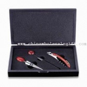 Wine and Bar Set with Promotional Wooden Box