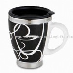 450ml Travel Mug, Made of Stainless Steel Liner and Ceramic Outer small picture