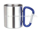 Stainless Steel Coffee Cup with carabiner handle small picture
