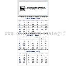 Three Month Display Commercial Wall Calendar ,Custom print Three Month ...