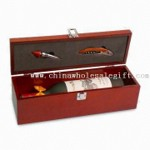 One Bottle Wine Box with Stainless Steel Accessories small picture