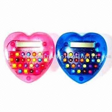 8 Digits Calculators in Heart Shape