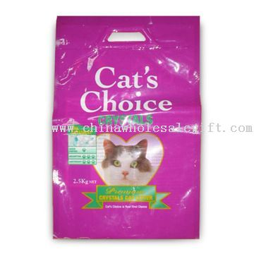 Cat Litter Bag with Hanger Hole and Excellent Printing