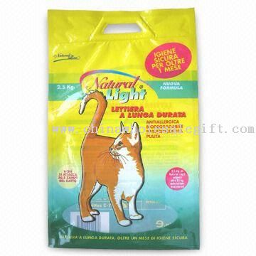 Cat Litter Bag with Plastic Hard Hanger Hole