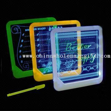 Acrylic Engraving LED Memo Board with Color Highlighter Marker Pen and LED Backlight