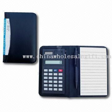 Eight Digits Jotter Calculator with Percentage/Square Root Function, 30 Pages Notepad and Pen