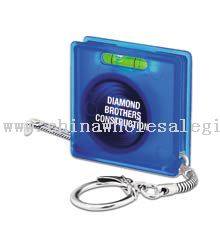 Square Tape Measure/Key Tag - Translucent