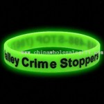 Glow-in-the-dark Silicone Wristband/Bracelet (Green) small picture