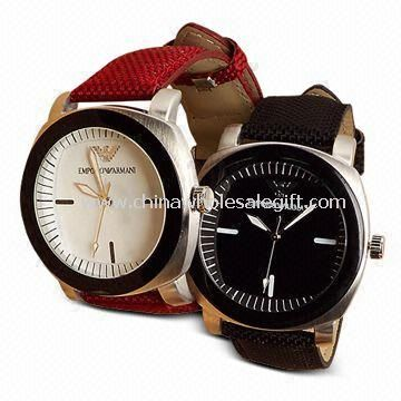 Three-hand Quartz Watch for Men, with Alloy Square Case and Round Lens