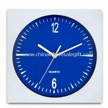 Square Wall Clock with Metal Hands