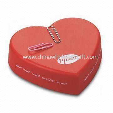Heart-shaped Paper Clip Holder