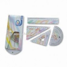 4pcs Geometry Set Ruler, Set Square, Protractor images