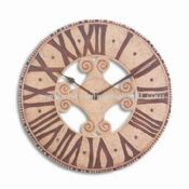 Circle-shaped Polyresin Wall Clock with Roman Numerals
