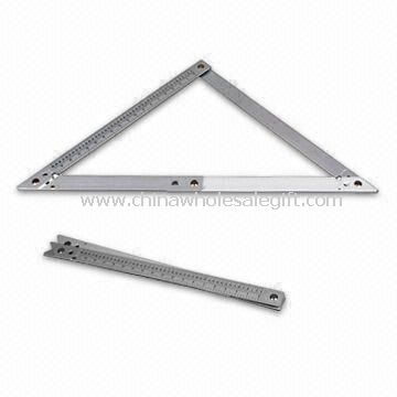 Square Ruler with Aluminum Folding Frame
