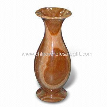 Office Decoration Elegant Marble Vase with Polished Surface
