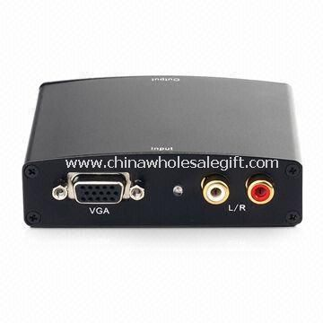 HDMI Adapter Convert PCs VGA Video and R/L Audio into Complete HDMI